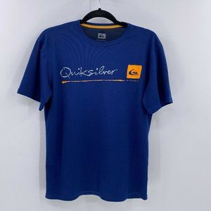 Quiksilver waterman shirt blue short sleeve sz S